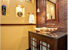 Yellow Asian Bathroom Pictures: Dramatic Asian Flair   HGTV