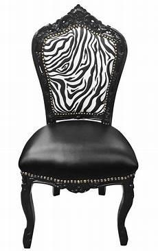 chaise baroque noir chaise de style baroque rococo simili cuir noir dossier