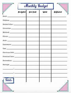 free budgeting printables expense tracker budget goal setting