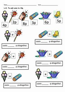 money worksheets totals and change by clara5 teaching resources tes