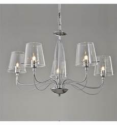 lustre baroque design 5 bras verre transparent matane