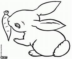 Ausmalbild Hase Mit Karotte Ausmalbilder Kleinen Kaninchen Und Eine Karotte Zum Ausdrucken