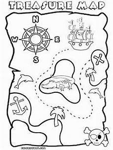 awesome treasure map coloring page play color in