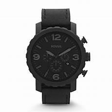 fossil herrenuhr jr1354 nate chronograph in schwarz und