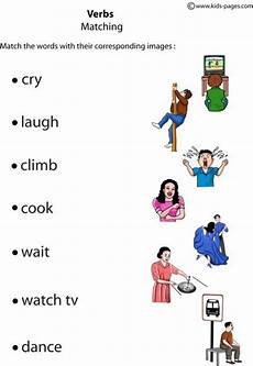 verbs matching 2 worksheets learning english for kids teaching english grammar english exercises