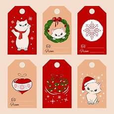 merry christmas gift tags template vector stock illustration download image now istock