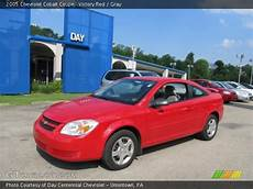 victory red 2005 chevrolet cobalt coupe gray interior