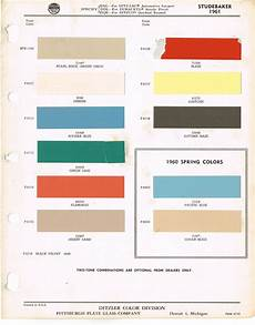 1961 studebaker color chip paint sle brochure chart
