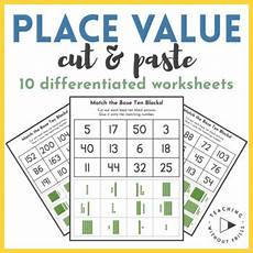 place value worksheet with base ten blocks 5671 place value cut paste differentiated practice count base ten blocks worksheet