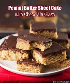 peanut butter sheet cake with chocolate glaze recipe