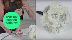 easy diy brooch bouquet a how to wedding project youtube