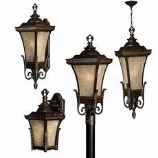 vintage outdoor lighting with regency bronze finish traditional mediterranean victorian