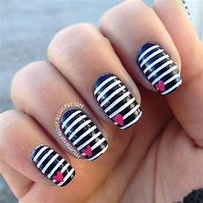top 17 simple navy strip nail designs best new summer
