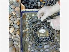 kieselsteine in beton verlegen mosaike aus kieselsteinen mein sch 246 ner garten