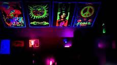 black light room youtube