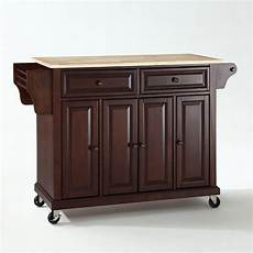 crosley furniture kitchen island crosley furniture wood top kitchen cart island