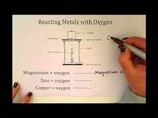 ks3 reacting metals with oxygen youtube