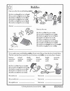 riddle worksheets for third grade 10906 5th grade reading writing worksheets word building riddles greatschools