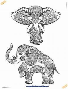 Malvorlagen Mandala Elefant Mandala Ausdrucken Elefant
