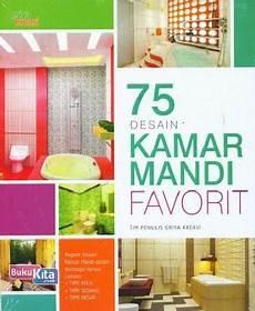 Buku 75 Desain Kamar Mandi Favorit Toko Buku