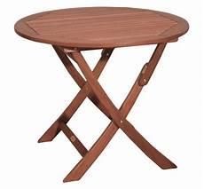 Gartentisch Aus Holz Rund 90 Cm D Klappbar