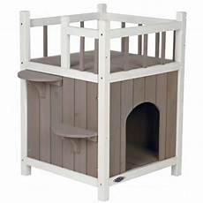 niche exterieure pour chat niche pour chat natura cats home avec balcon accessoires pour le couchage du chat maison
