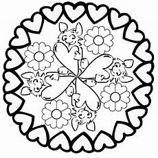 Malvorlagen Mandala Muttertag Muttertag Mandala Herz Ornament Ausmalen Muttertag