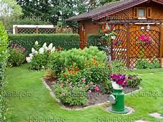 Image Wooden Garden House And Flower Beds In An Allotment