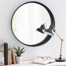 spiegel schwarz spiegel clifford mit metallrahmen d 60 cm schwarz