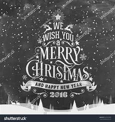 we wish you a merry christmas and happy new year typographical background chalkboard stock