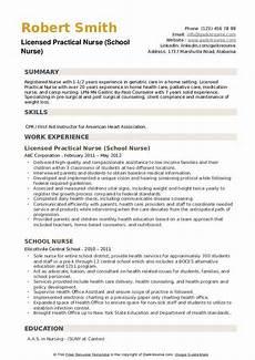 school nurse resume sles qwikresume