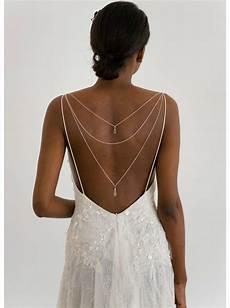 quot l 233 ontine quot bijou de dos amovible pour robe dos nu mariage