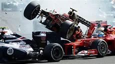 f1 en formule 1 top 10 des crashs en f1