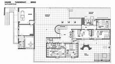 tugendhat house plan floorplan villa tugendhat villa tugendhat a 1930