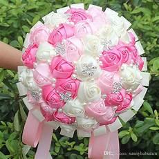 acheter bleu clair bouquets de mariage satin dentelle