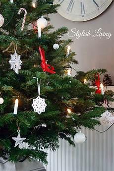 Weihnachtsbaum Rot Weiß Geschmückt - weihnachtsbaum in rot wei 223 stylish living