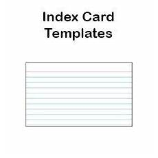 index card template 8 free printable index card templates 3x5 and 4x6 blank pdfs
