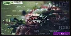 wedding typography titles dates and names after effects project videohive 187 free after