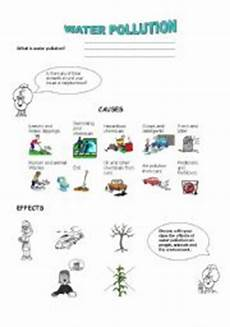 pollution worksheets for elementary students water pollution esl worksheet by paisita
