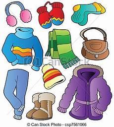 clipart inverno clipart vettoriali di inverno abbigliamento collezione
