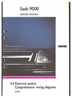 how to download repair manuals 1990 saab 9000 on board diagnostic system m 1991 saab 9000 3 4 electrical system wiring diagram service manual ebay