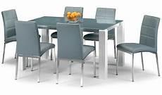 Esstisch Hochglanz Grau - modern grey glass dining table set with high gloss white