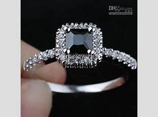2018 Women Square Black Onyx Engagement Band .925 Sterling