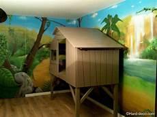 chambre garcon jungle d 233 co int 233 rieur jungle lit cabane avec d 233 coration jungle