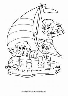 Malvorlagen Sommer Jung Ausmalbilder Ausmalbild Kinder Auf Dem Boot