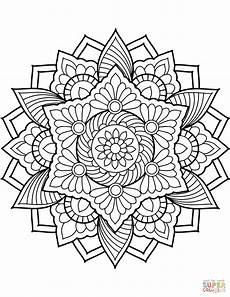 ausmalbild blumen mandala ausmalbilder kostenlos zum