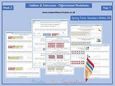 differentiated addition worksheets year 1 9866 year 1 week 2 editable addition and subtraction differentiated worksheets within 20