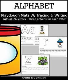 multiplication and worksheets 4315 3 dinosaurs alphabet playdough mats with tracing writing in 2020 kindergarten learning