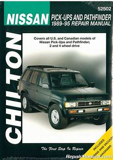 car repair manuals download 1995 nissan pathfinder user handbook chilton nissan pick ups and pathfinder 1989 1995 repair manual