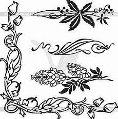 Jugendstil Malvorlagen Blumen Jugendstil Ornamente Und Ecken Vector Design In 2020